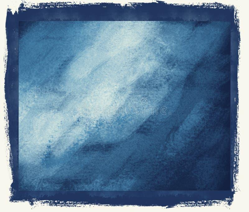 Blauer grunge Hintergrund lizenzfreie abbildung