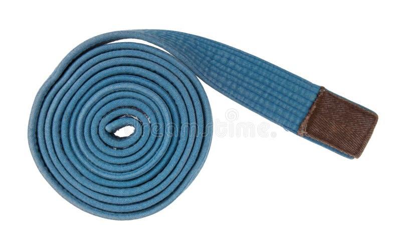 Blauer Gurt lokalisiert lizenzfreies stockbild