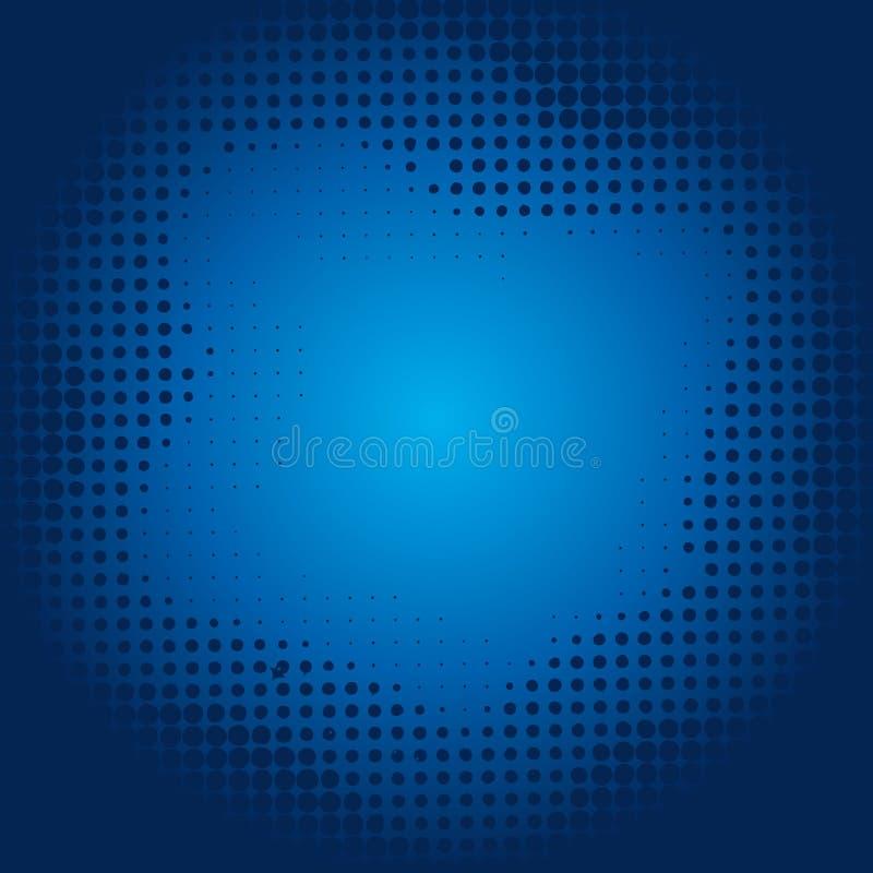 Download Blauer Halbtonhintergrund vektor abbildung. Illustration von kurve - 27725693