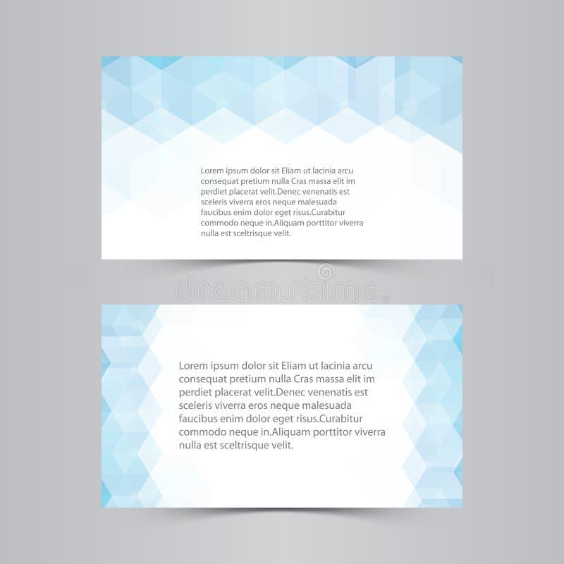 Blauer Hexagonzusammenfassungshintergrund auf weißem Hintergrund lizenzfreie abbildung