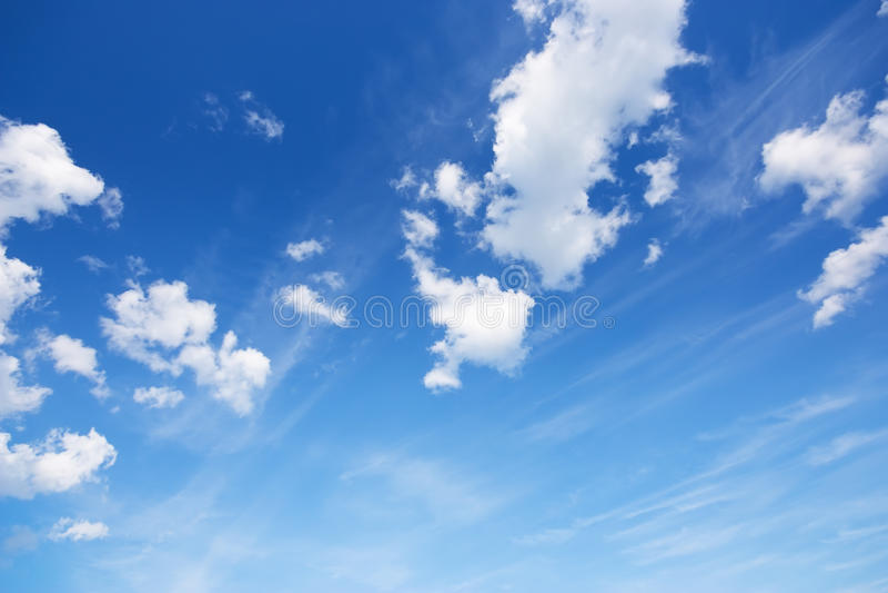 Download Blauer Himmel stockbild. Bild von fein, muster, clear - 47100799