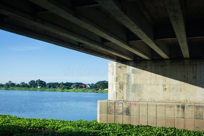 Blauer Himmel Brücken-Thailands stark stockfotos