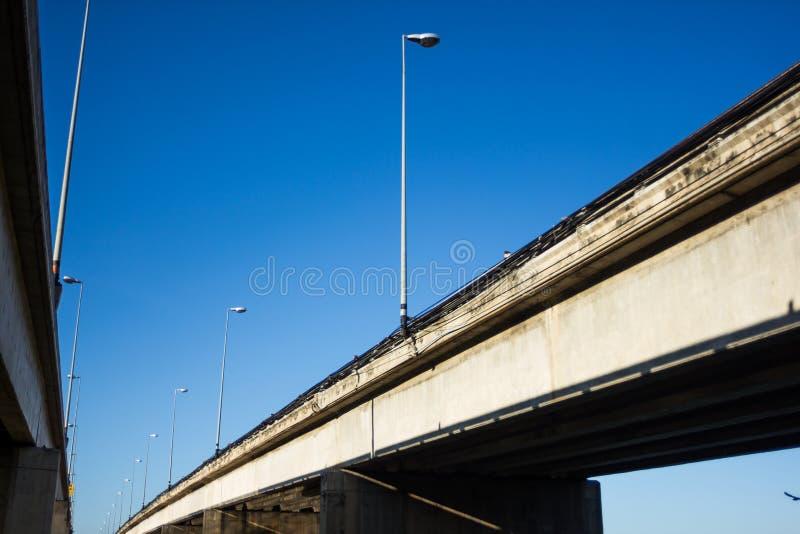 Blauer Himmel Brücken-Thailands stark stockbilder