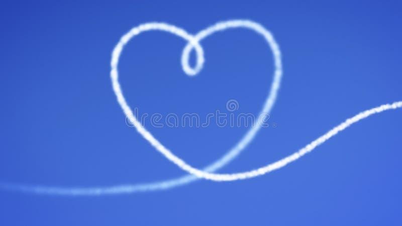 Blauer Himmel des Herzens stock abbildung