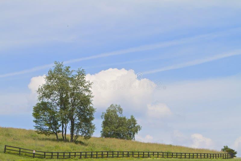 Blauer Himmel-Hügel stockfoto