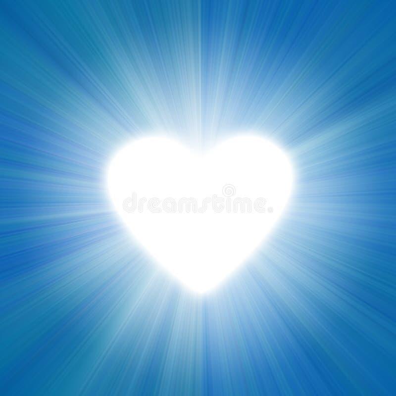 Blauer Himmel mit einem Glühen vektor abbildung