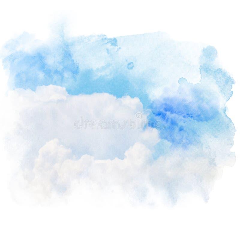 Blauer Himmel mit weißer Wolke lizenzfreie abbildung