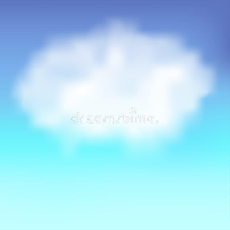 Blauer Himmel mit Wolke vektor abbildung
