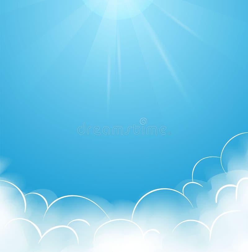 Blauer Himmel mit Wolken stock abbildung