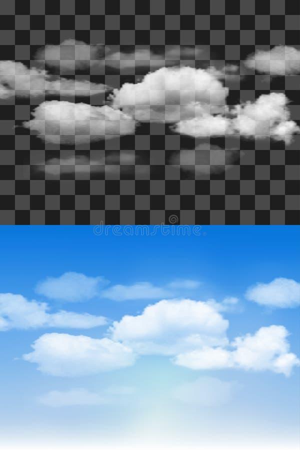 Blauer Himmel mit Wolken lizenzfreie abbildung