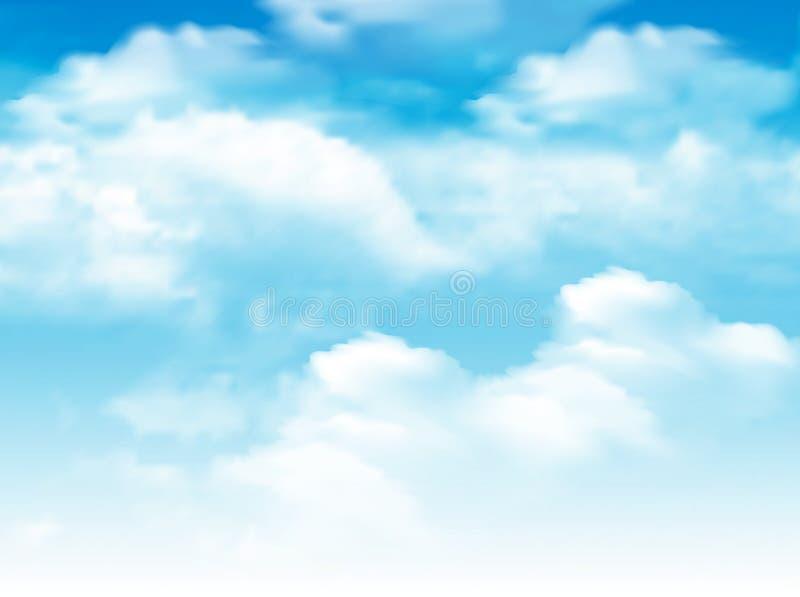 Blauer Himmel mit Wolkenhintergrund lizenzfreie abbildung