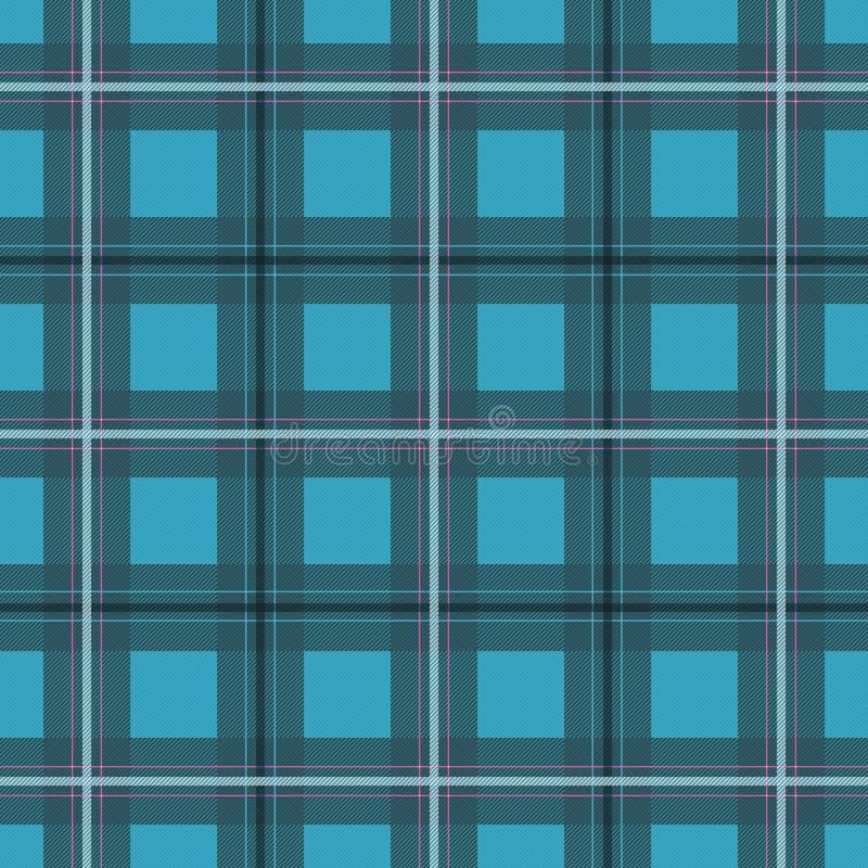 Blauer Himmel Scottishmuster lizenzfreie abbildung