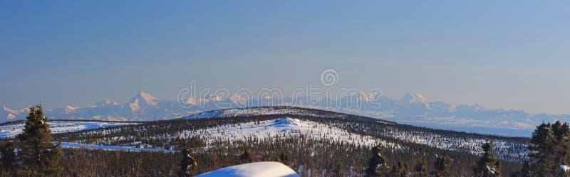 Blauer Himmel und weißer Schnee, sonnig stockbilder