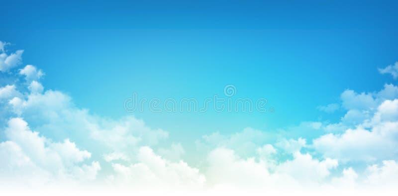 Blauer Himmel-Weiß-Wolken lizenzfreie stockfotos