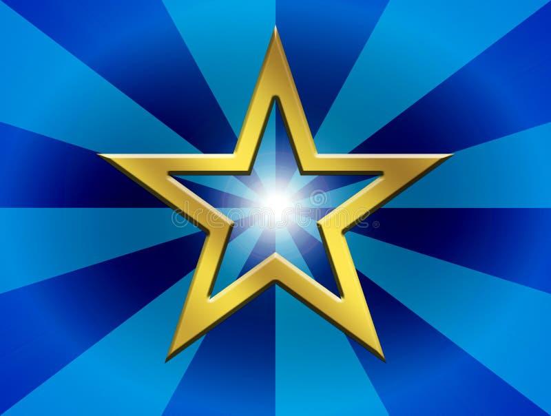 Download Blauer Hintergrund stock abbildung. Illustration von golden - 12202660
