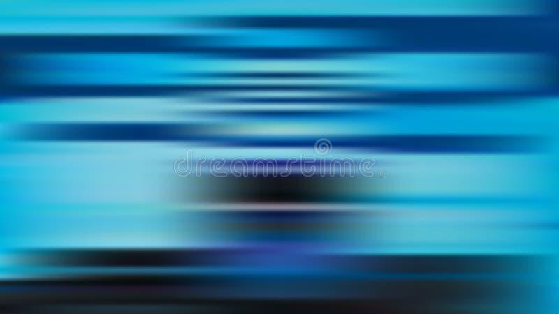 Blauer Hintergrund der Vektorunschärfe mit horizontalen Streifen stock abbildung