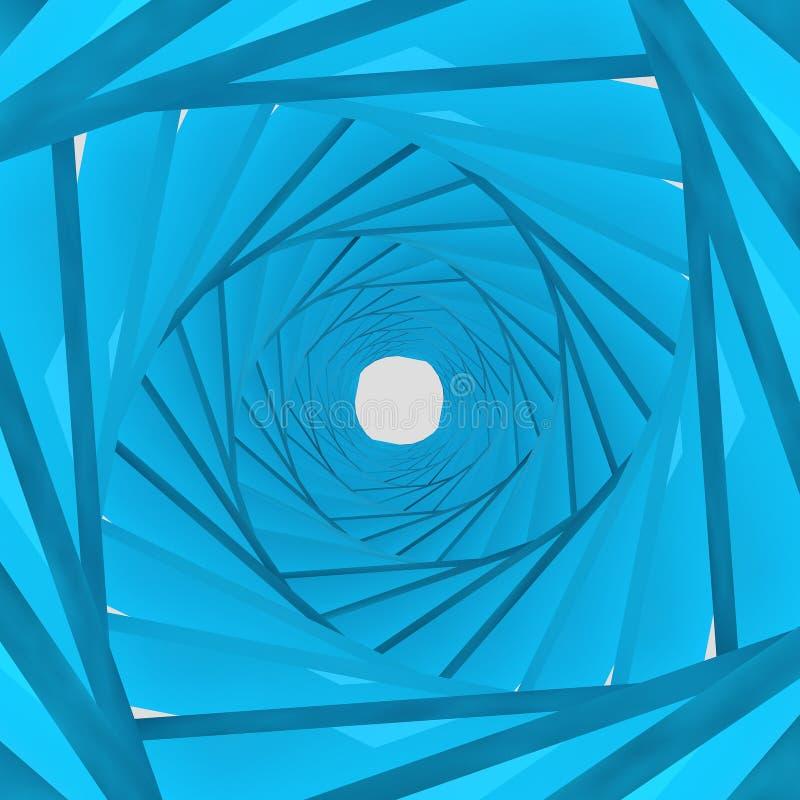 Blauer Hintergrund des Hintergrundes 3d stock abbildung