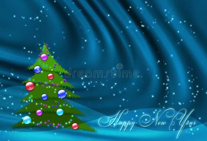 Blauer Hintergrund des neuen Jahres lizenzfreie abbildung