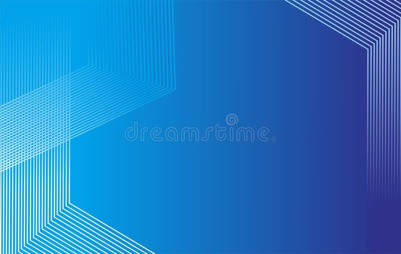 Blauer Hintergrund leuchtet einer einfachen Steigung lizenzfreie abbildung