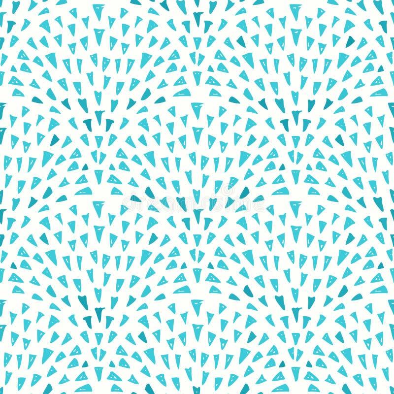 Blauer Hintergrund Mit Dreieckigem Brunnen-Muster Vektor Abbildung ...