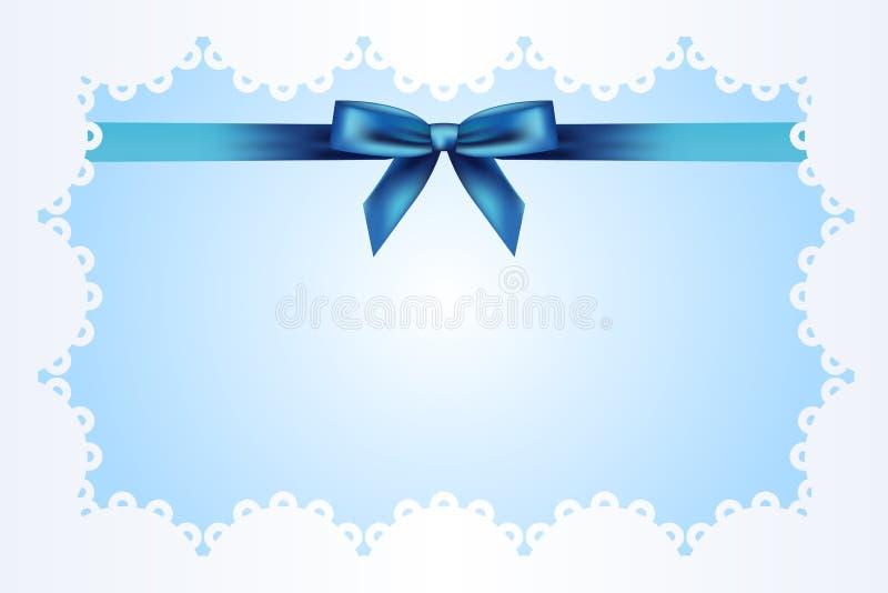 Blauer Hintergrund mit Farbband vektor abbildung
