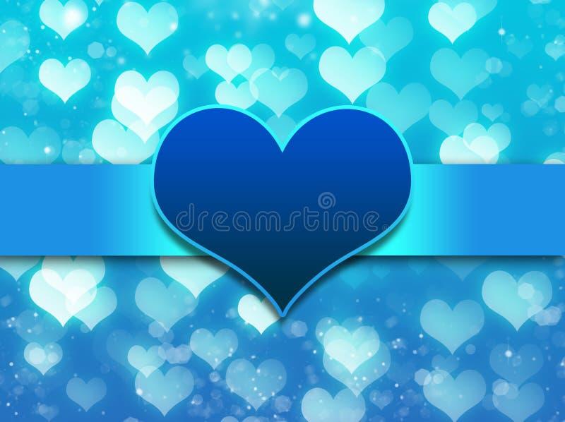 Blauer Hintergrund mit Liebesinnerem vektor abbildung