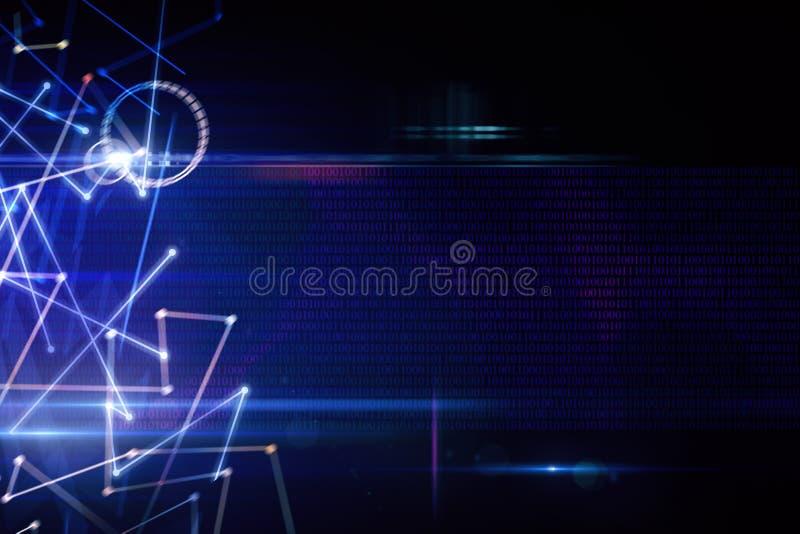 Blauer Hintergrund mit Linien vektor abbildung