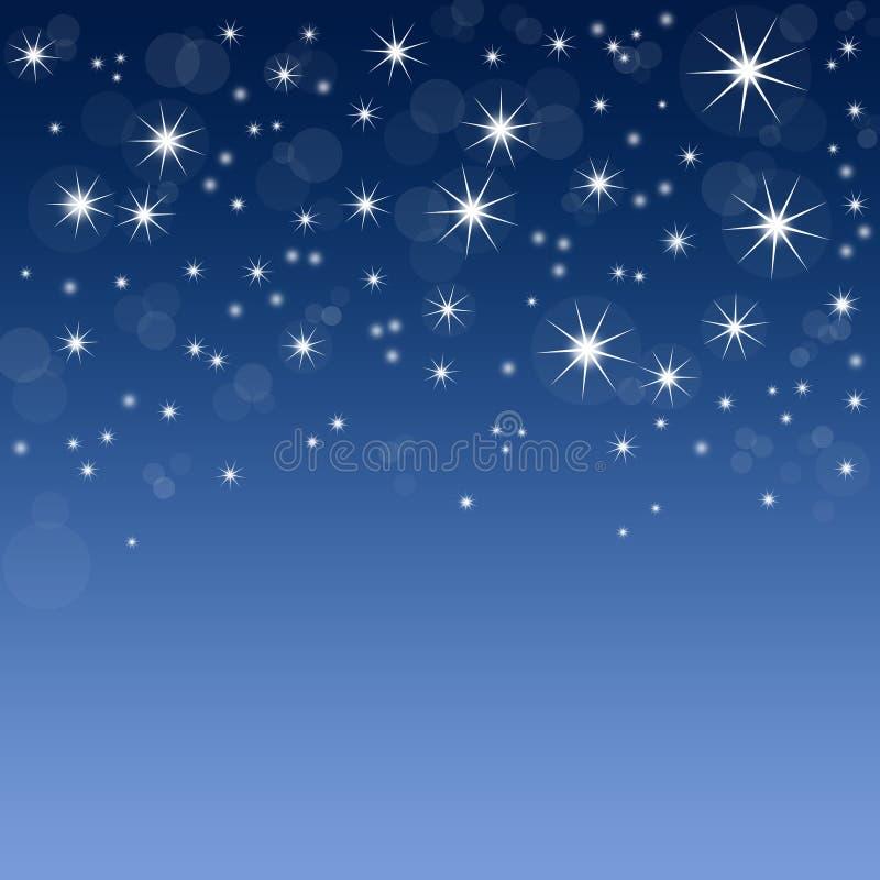 Blauer Hintergrund mit Sternen stockbild