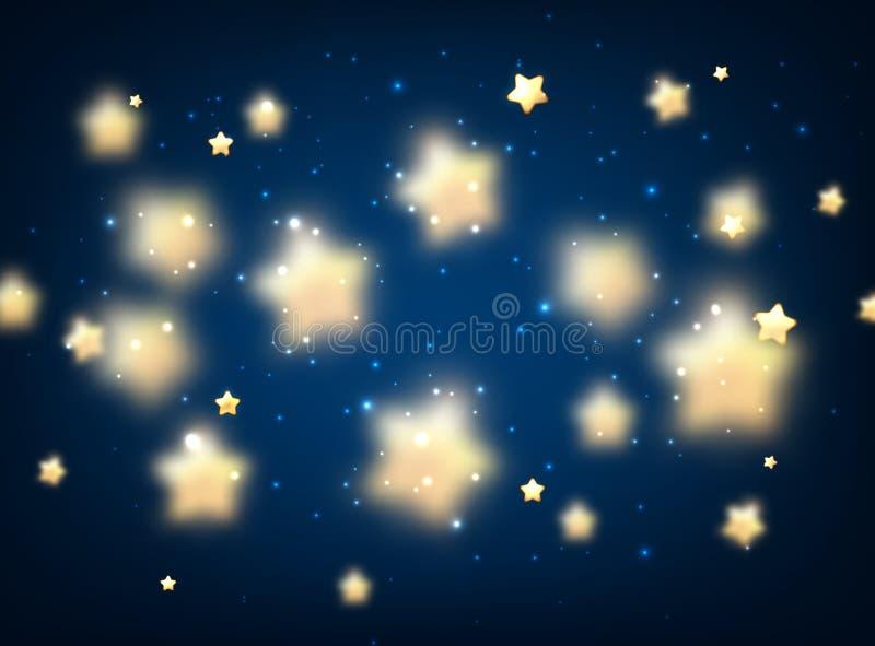blauer hintergrund mit sternen vektor abbildung illustration von abdeckung hell 62850581. Black Bedroom Furniture Sets. Home Design Ideas