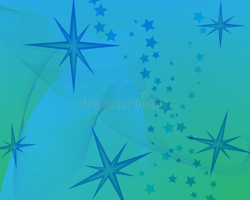 Blauer Hintergrund mit Sternen lizenzfreie abbildung