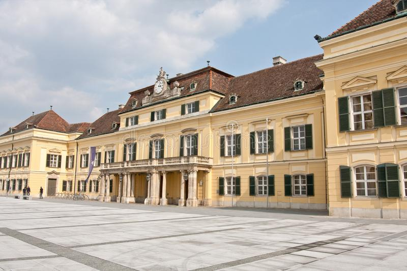 Blauer Hof, Laxenburg, Austria, Europe. Blauer Hof or Blue Court, town of Laxenburg near Vienna. Old Summer residence of the royal family stock image