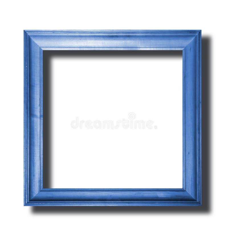 Blauer Holzrahmen lizenzfreie stockfotos