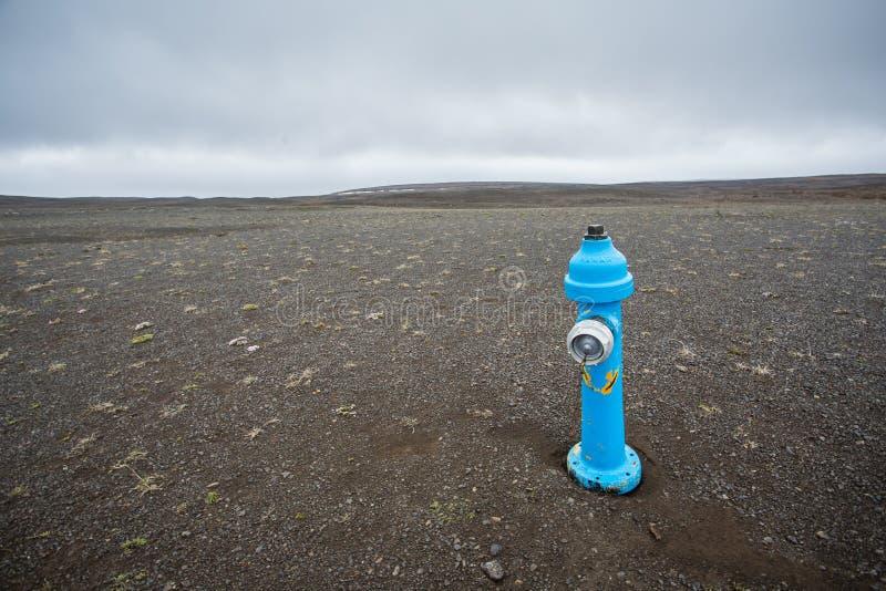 Blauer Hydrant stockbild