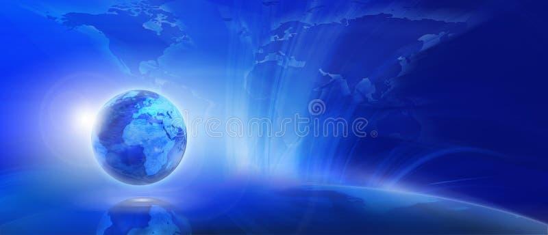Blauer Internet-Hintergrund vektor abbildung