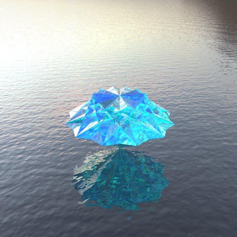 Blauer kühler heller Diamant leuchtend vektor abbildung