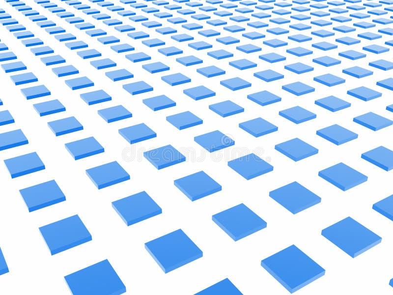 Blauer Kasten-Rasterfeld lizenzfreie abbildung