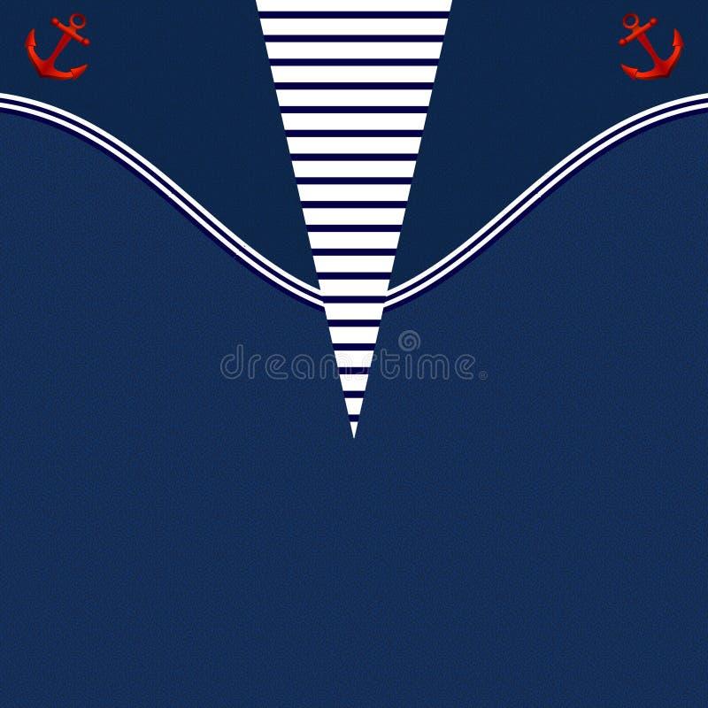 Blauer Kittel-bedruckbarer Hintergrund stock abbildung