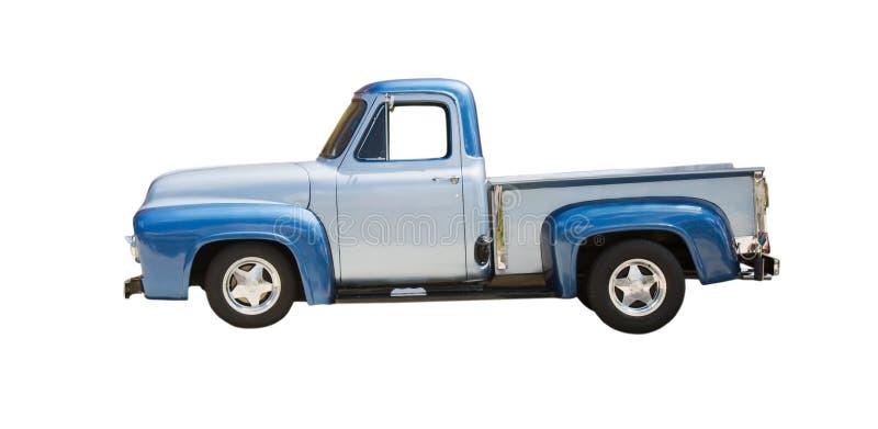 Blauer klassischer LKW mit zwei Tönen lizenzfreie stockbilder