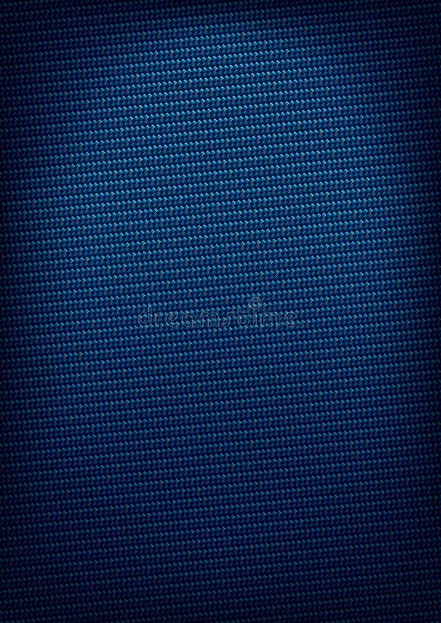 Blauer Kohlenstoffart Hintergrund stock abbildung