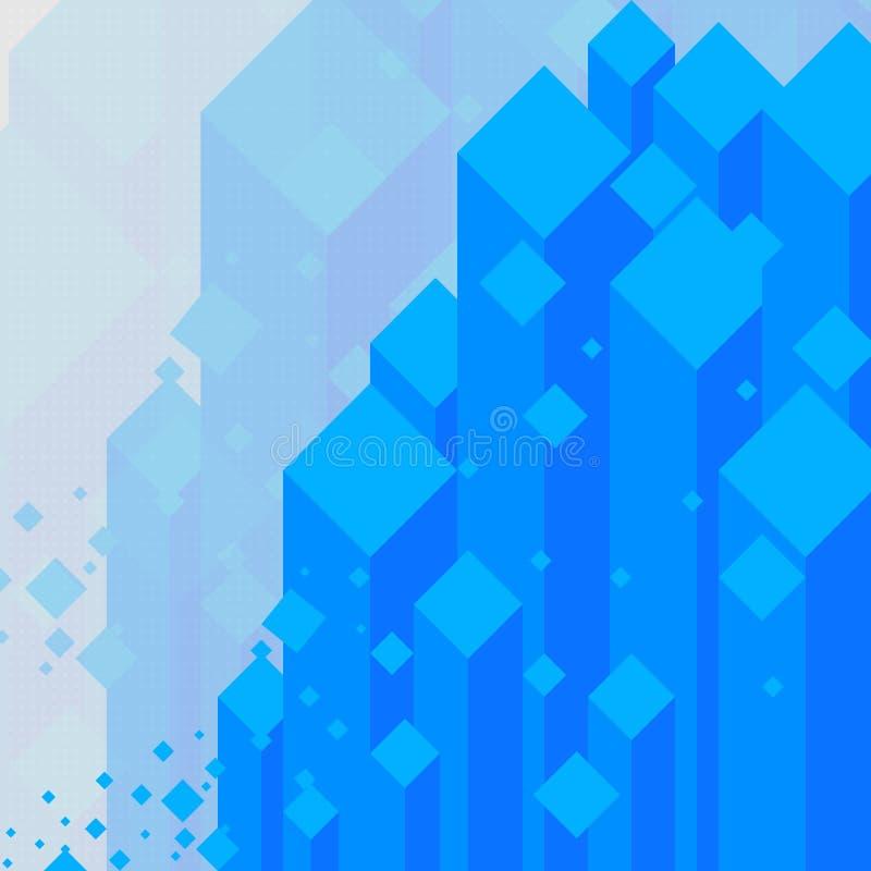 Blauer Kristall des abstrakten Hintergrundes haben Diamanten auf grauem Hintergrund lizenzfreie abbildung
