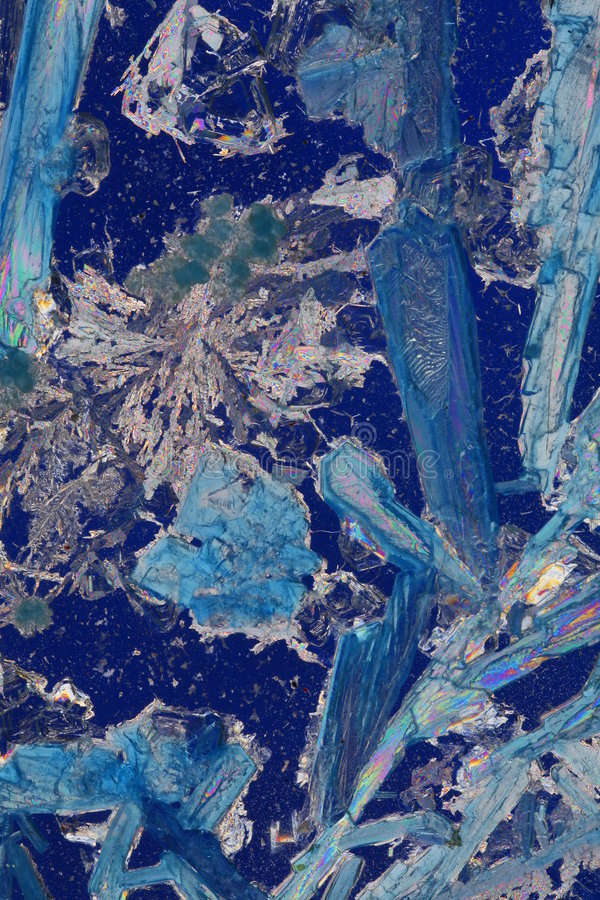 Blauer kristallener Auszug lizenzfreie stockbilder