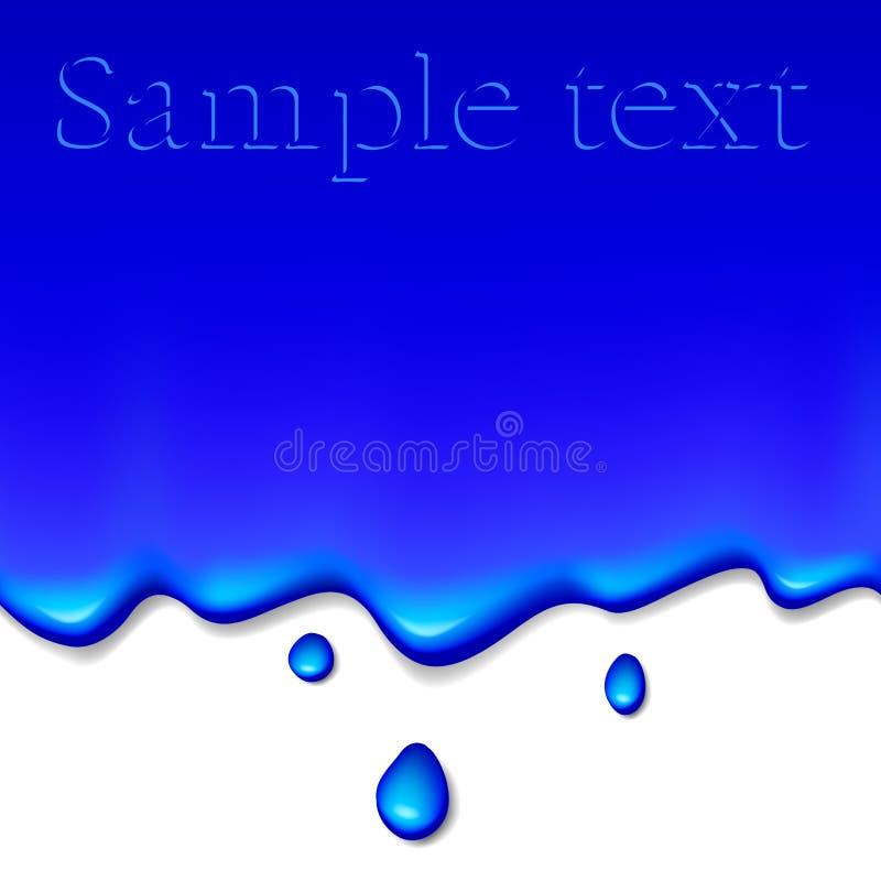 Blauer Lack vektor abbildung