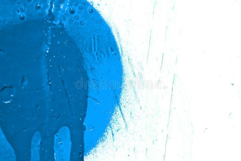 Blauer Lack Splatter stock abbildung