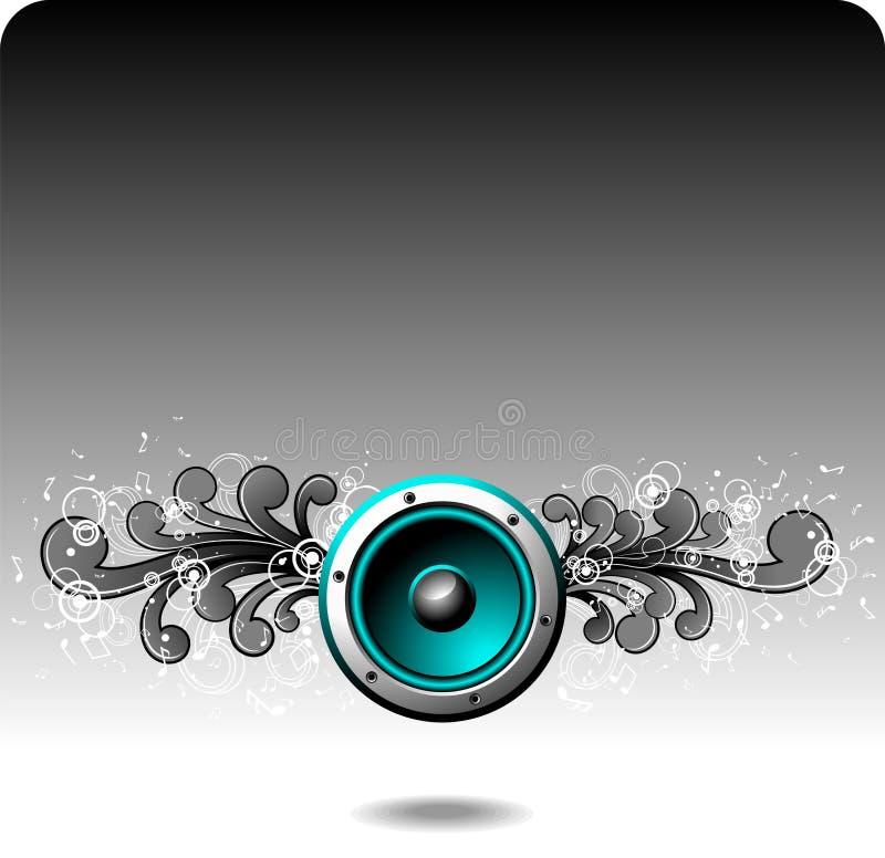 Blauer Lautsprecher lizenzfreie abbildung