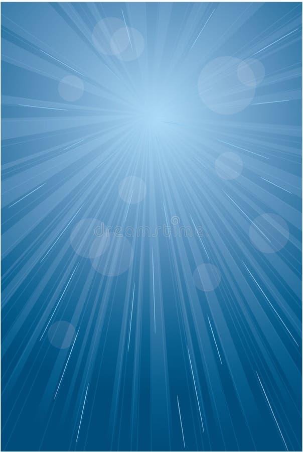Blauer Leuchteimpuls, abstrakter Hintergrund lizenzfreie abbildung