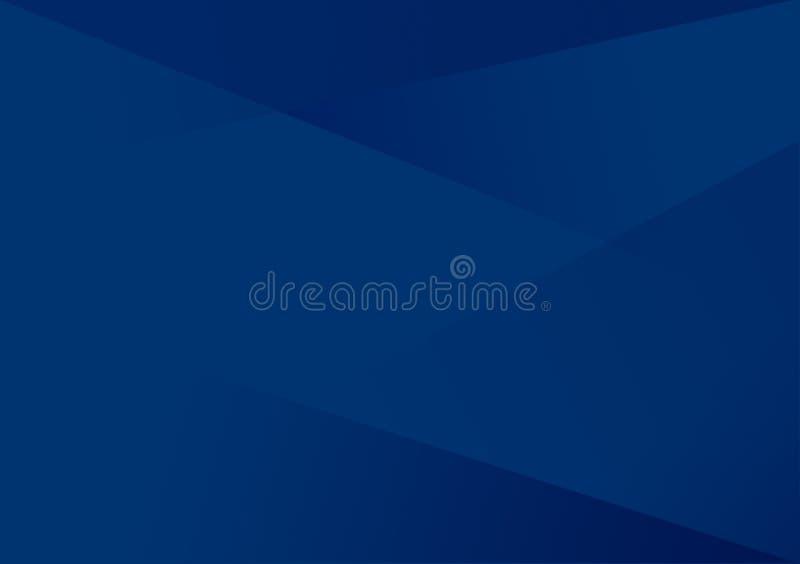 Blauer linearer Formhintergrund-Steigungshintergrund lizenzfreie abbildung