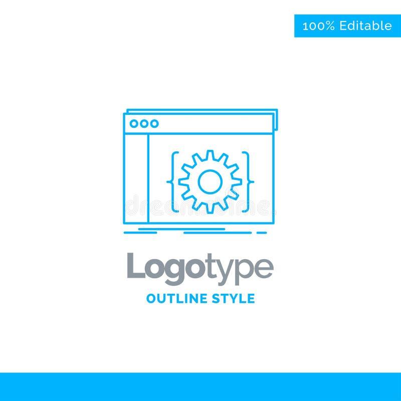 Blauer Logoentwurf für API, App, Kodierung, Entwickler, Software Busi lizenzfreie abbildung