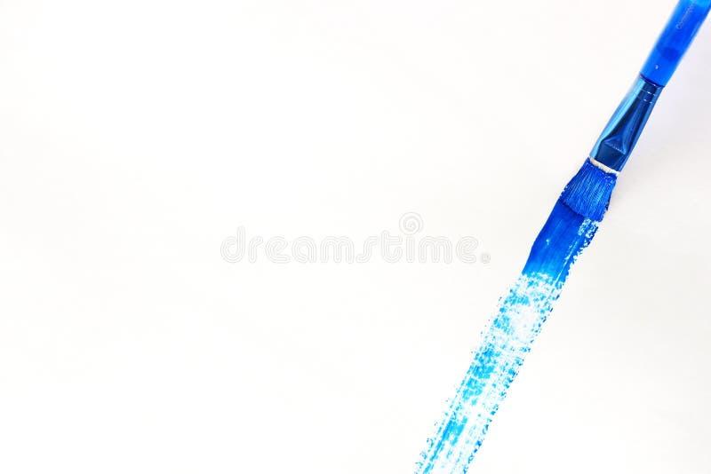 Download Blauer Malerpinsel stockbild. Bild von anschläge, blau, lacke - 47105