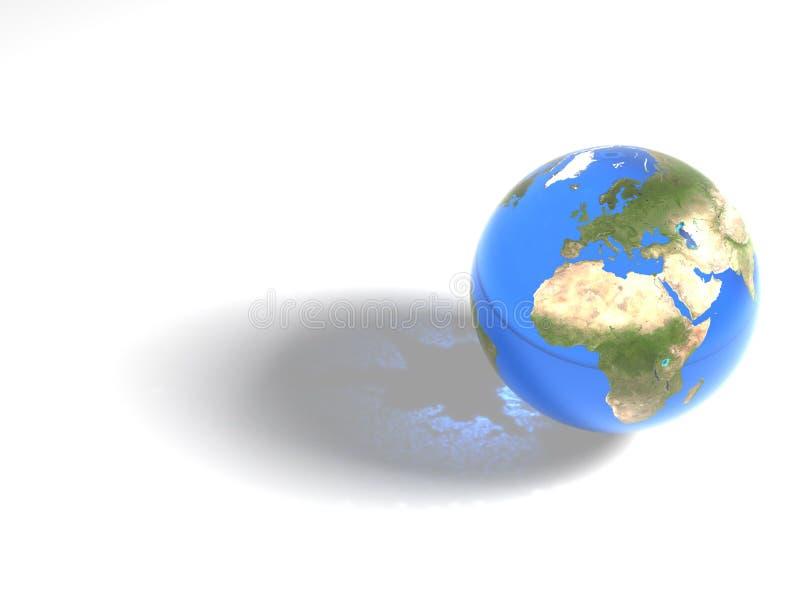 Blauer Marmor - Afrika u. Europa lizenzfreie abbildung
