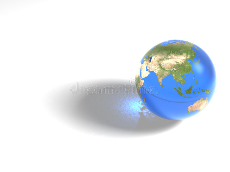 Blauer Marmor - Asien vektor abbildung